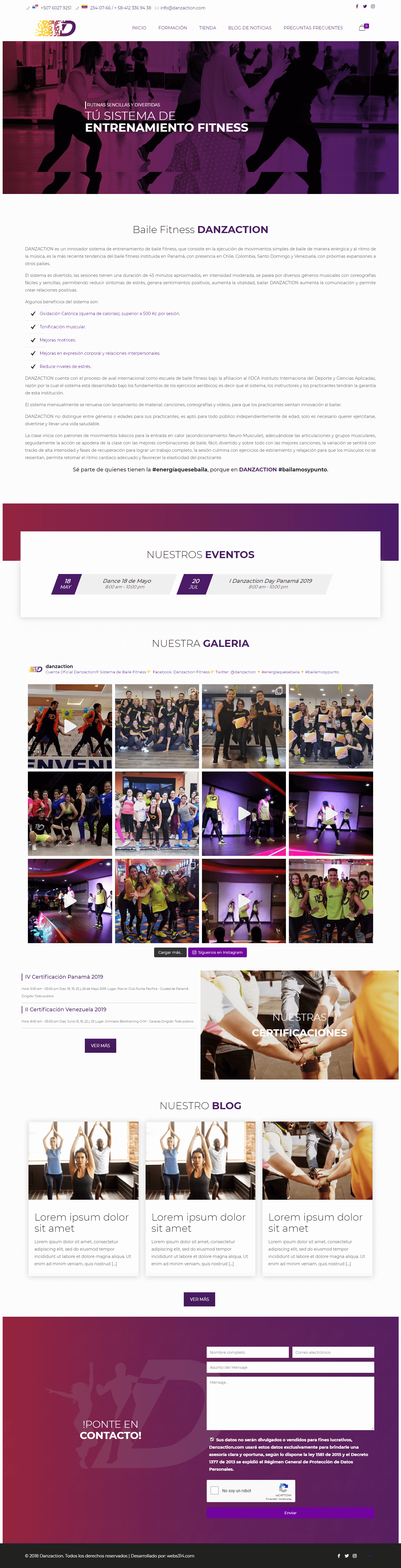 Danzaction – Sistema de entrenamiento de baile fitness