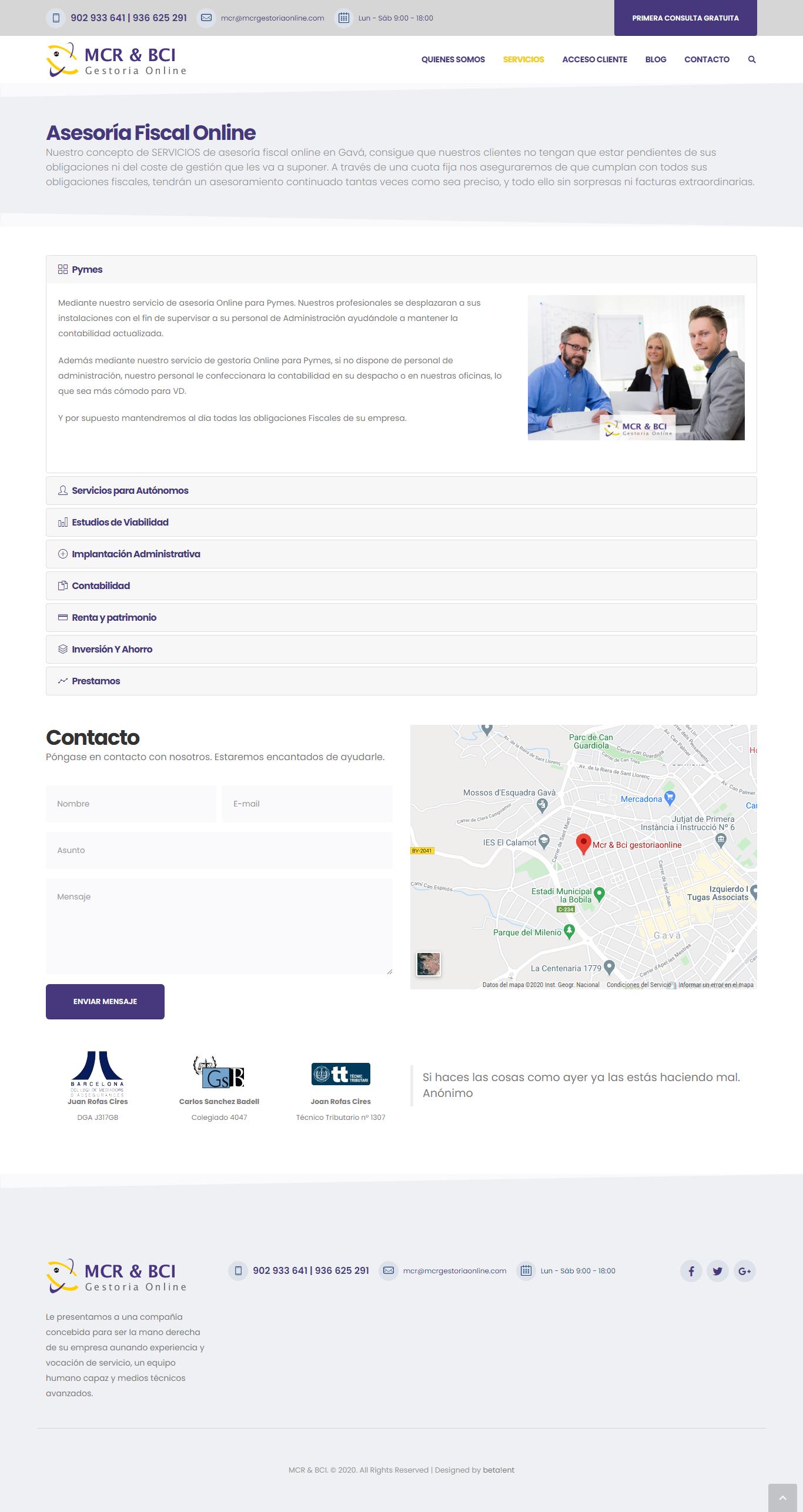 MCR asesoría fiscal online
